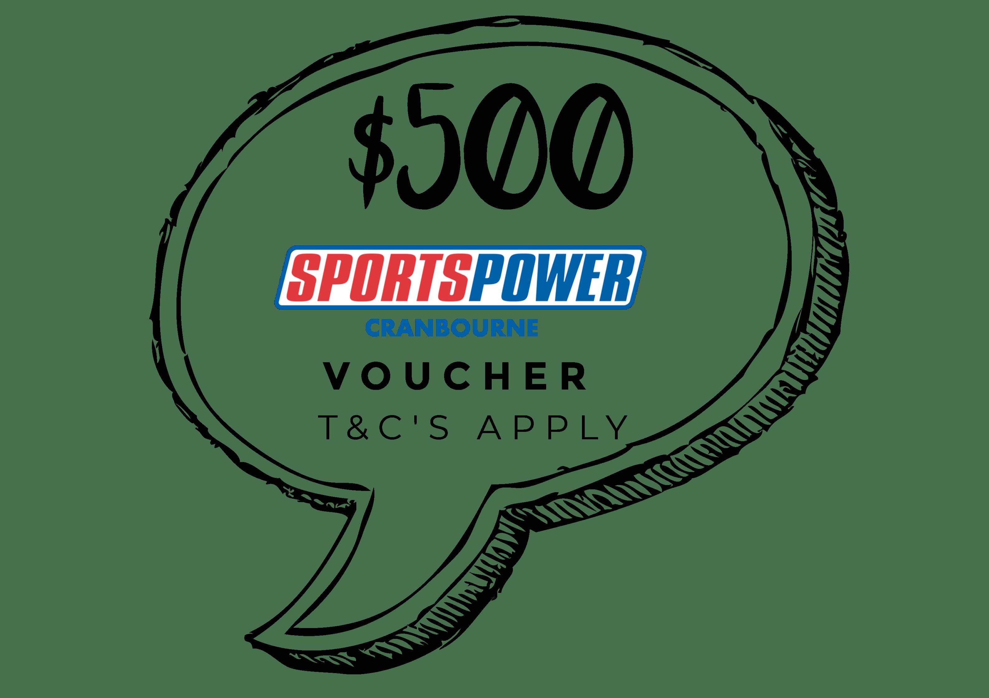 $500 SportsPower Cranbourne Voucher